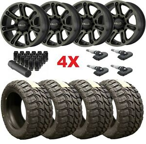 18 Black Wheels Rims Tires 33 12 50 18 33x12 50r18 Mt Mud Fuel F 150 Dark Tint