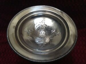 Frank M Whiting Sterling Silver W Flowers Weighted 6 Tall Compote Candy Dish