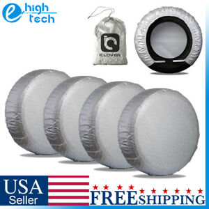 25 27 Waterproof Wheel Tire Covers Sun Protector For Truck Car Rv Trailer Suv