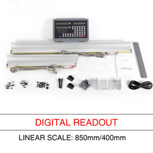 2 Axis Digital Display Readout Dro Gcs Milling Lathe Linear Scale Kit Ac 85 260v