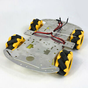 Smart Car Robot With Chassis And Kit Tt Motor Coupling Mecanum Wheels