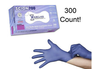 300 Count Nitrile Exam Gloves Blue Latex free Small Scion700