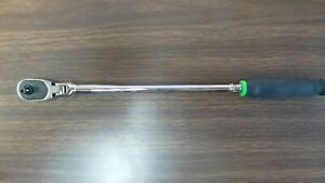 New Snap On Thrllf72 Extra Long Green Handle Swivel Push Button 1 4 Drive Rat