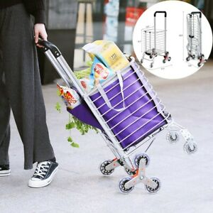 New Folding Shopping Cart Jumbo Basket Grocery Laundry Travel W swivel Wheels Us