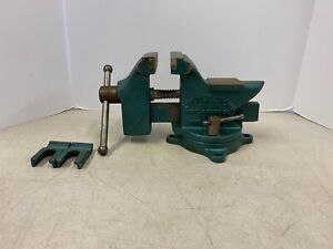 Vintage Littlestown Pa Swivel Bench Vice No 400 Anvil Rare Pipe Jaws