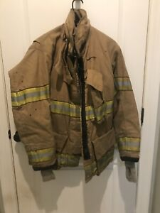 40x32 Globe Gxtreme Firefighter Jacket Coat With Yellow Tape