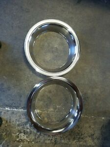 Mopar Dodge 2 X 15 Inch Rally Wheel Trim Rings 3002 Am 15