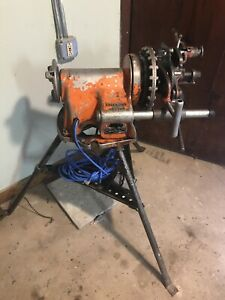 Ridgid 300 Pipe Threader Threading Machine W Tristand Extras