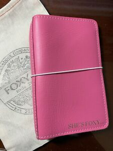Foxy Fix No 4 Personal Travelers Notebook Pink Grapefruit Planner
