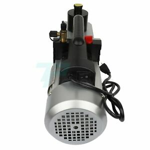 2 stage Air Vacuum Pump Hvac R134a R410a Refrigerant Tool 320 Ml 110v 60hz 8cfm