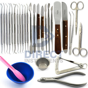 Medentra Dental Laboratory Waxing Instruments Carver Spatula Mixing Bowl Knife