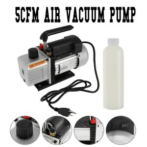 5 Cfm Vacuum Pump Rotary Vane 2 Stage 1 3hp Hvac Ac Refrigerant Air Conditioning