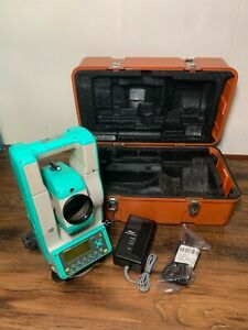 Nikon Dtm 530 Survey Surveying Total Station With Battery Charger And Hard Case