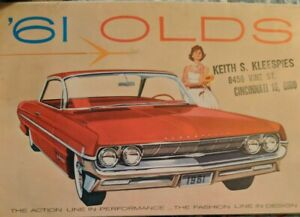 1961 Olds Oldsmobile Sales Brochure Kleepsies Cincinnati Ohio