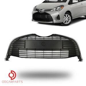 Fit Toyota Yaris Hatchback 2015 2017 Front Bumper Lower Grille With Chrome Trim
