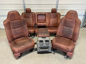 1999 2010 Ford F250 F350 F450 Super Duty Front Rear Seats King Ranch Leather