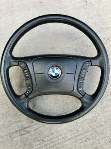 1999 2000 2001 Bmw 740il E38 Leather Heated Steering Wheel With Switches Air Bag
