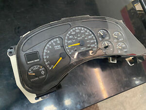 1999 2002 Chevy Silverado Gmc Speedo Dash Gauge Cluster 2500 1500 At Trans Temp