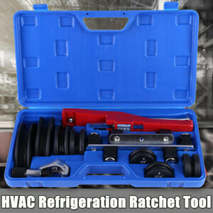 Hvac Refrigeration Ratchet Tube Bender Pipe Cutter Copper Aluminum Tubing Tool