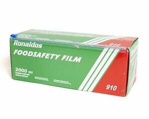 Ronaldos Food Safety Film 12 Inch X 2000ft Plastic Wrap Commercial Grade 1 Box