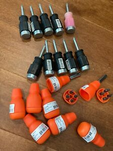 18 Pcs Stubby Hammer End Screwdriver Lot W 4 In 1 Multi Bit Gearless Ratchet