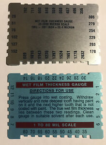 Wfg 237 Wet Film Thickness Gauge Dual Scale Micron Mils 1 80 Mil 25 2000 25 4