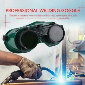 Welding Cutting Welders Safety Goggles Glasses Flip Up 5 Green Filter Lenses