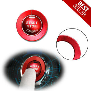 For Infiniti Q50 Q60 Qx60 Red Aluminum Keyless Engine Start Button Cover Ring