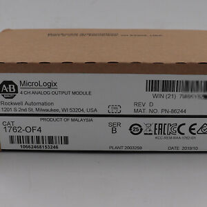 Allen bradley Micrologix 4point Analog Output Module 1762 of4 New Factory Sealed