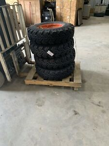 7 5x16 Bobcat Snow Skid Steer Tires Set Of 4 With Rims S740 S750 S770 New 12 Ply