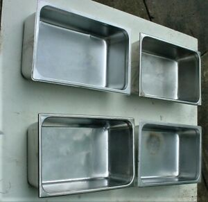 Lot 4 Full Size 6 Deep Stainless Steel Steam Table Catering Pans 2 Vollrath