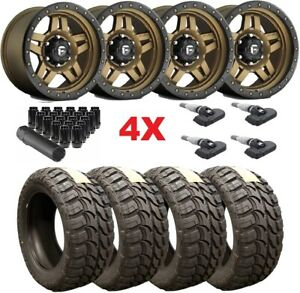 Fuel Wheels Rims Tires Bronze 33 12 50 20 33 12 50 20 Method Rhino 1500