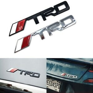 3 75 Silver Black T R D Chrome Racing 3d Emblem Decal Trunk Metal Badge Sticker