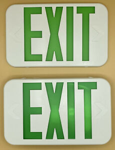 Led Emergency Exit Sign One Or Two Sided