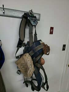 Used Dbi Sala Exofit Positioning Safety Harness Xl Iron Worker Tower With Acc