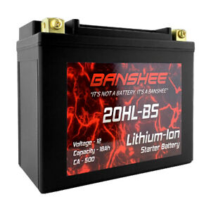 Banshee YTX20L-BS ETX20HL LifePO4 Motorcycle ATV 12V Battery 500 CCA 18Ah