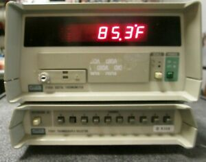 Multi channel Thermocouple Thermometer 10 Channel J k t Type Fluke 2190 Works