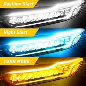 Sequential Turn Signal Light Strip For Auto Motorcycle Led Drl Amber Blue White