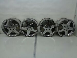 97 04 Mercedes Slk230 R170 Chrome Wheel Rims 8x17 5 Spoke Set Of 4 Amg Ak2004118