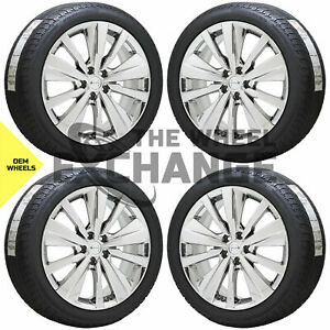 19 Nissan Altima Maxima Pvd Chrome Wheels Rims Tires Factory Oem Set 4 62785