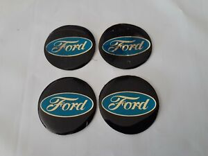 Set Of 4 Nos Vintage Ford Center Cap Decals Stickers 37mm