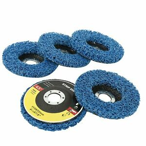 5 Pack 4 5 x7 8 Easy Strip 4 1 2 Discs Remove Paint Rust Clean Flat Surface