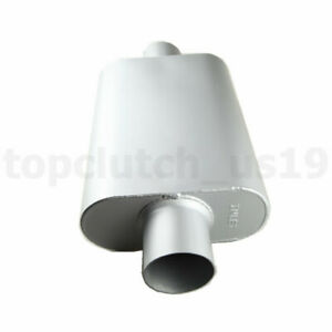3 Inch Inlet Outlet Aluminized Steel 4 X 9 Oval Exhaust Muffler Silencer U S