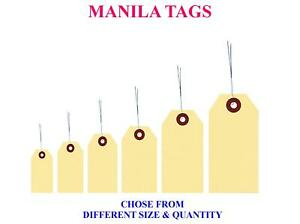 Manila Tags With Wire Wiring String Hang Shipping Label Strung Scrapbook Sizes