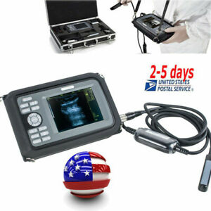 5 5 vet Portable Digital Ultrasound Scanner W Rectal Probe Animal Veterinary Ce
