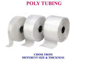 Any Size Poly Tube Tubing Clear Bags Roll Plastic Bags Polybags Custom 1 5 Mil