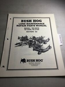 Bush Hog Td1500 Td1700 Cutter Parts Manual