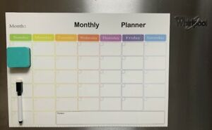 16 5 X 12 Magnetic Refrigerator Calendar White Dry Erase Board Monthly Planner