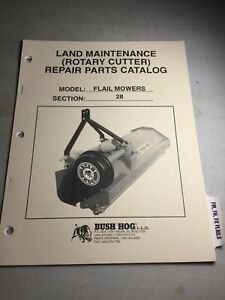 Bush Hog Flail Mowers Fm Fh Fx Parts Manual See Second Pic For Included Models