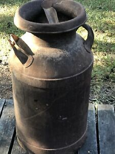 Antique Rusty Old Milk Can Heavy